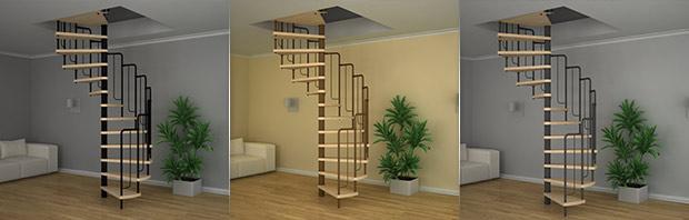 Винтовые лестницы собственного производства