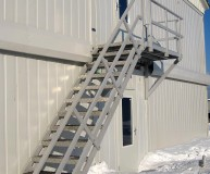 пожарная металлическая лестница