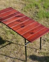 Садовый столик с поперечными положением
