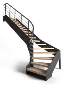 Лестница на стальной тетиве