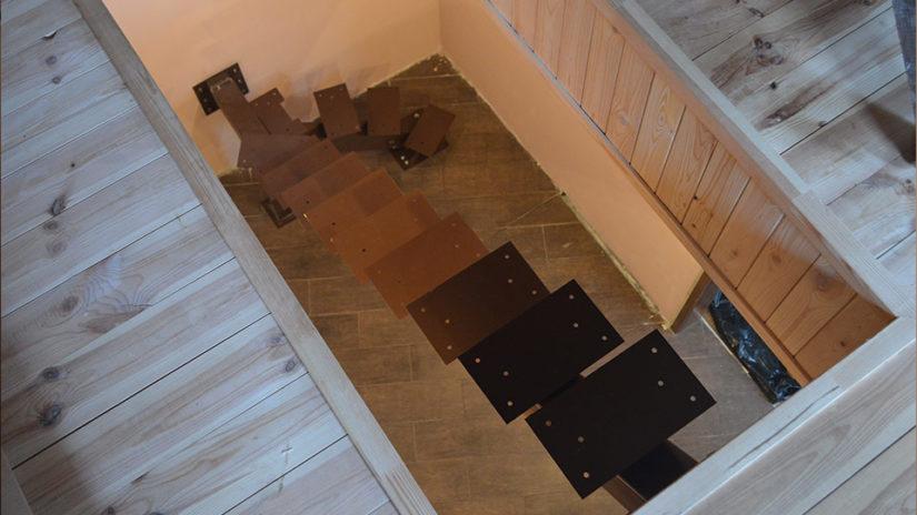 Лестницы на центральном сварном каркасе